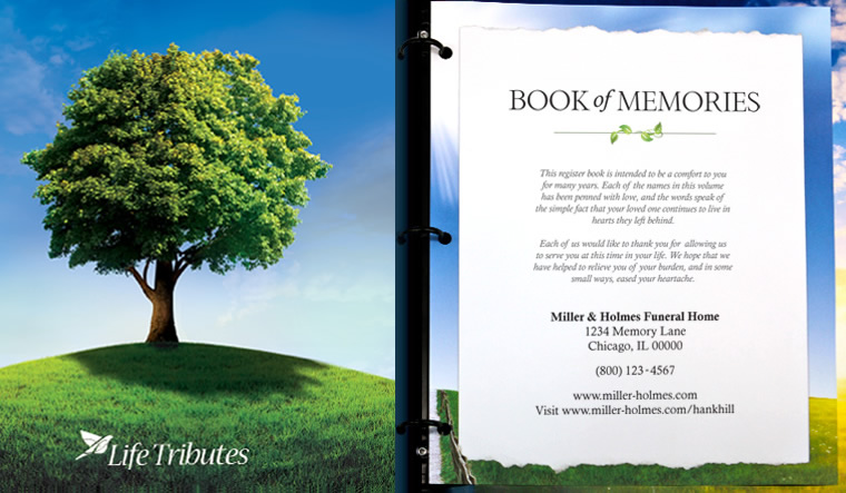 Book Cover Design Nature : Funeralone tribute book